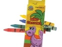 Dino Crayons (4pcs/pck)<br /> 720 packs per case assorted<br />US$ 0.15